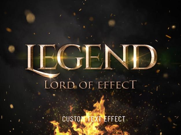 Efekt stylizowany na czcionkę filmowej legendy 3d