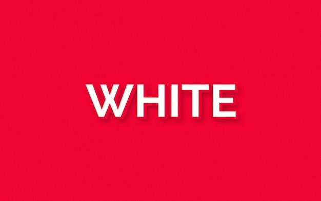 Efekt stylu białego tekstu