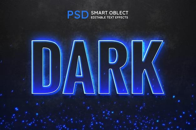 Efekt stylu ciemnego tekstu