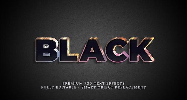 Efekt stylu czarnego tekstu, efekty tekstowe premium