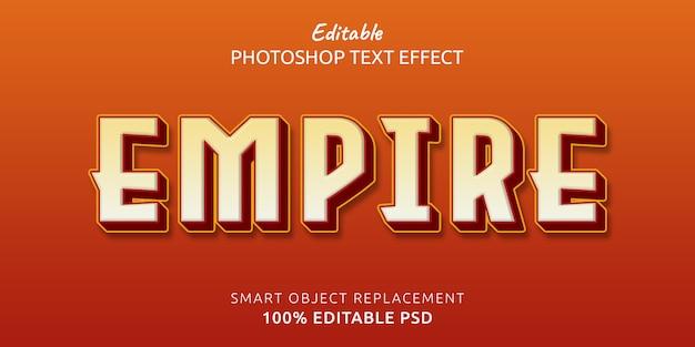 Efekt stylu edytowalnego tekstu empire