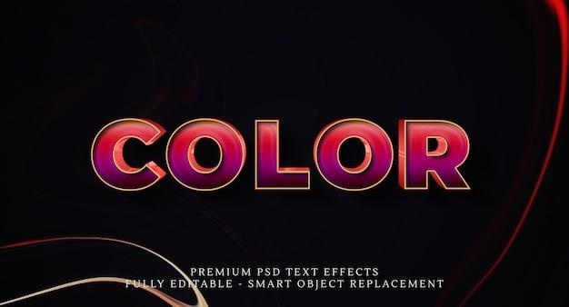 Efekt stylu kolorowego tekstu