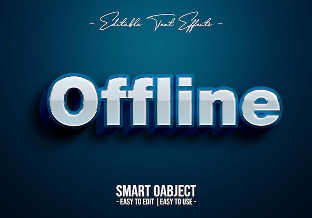 Efekt stylu offline tekstu