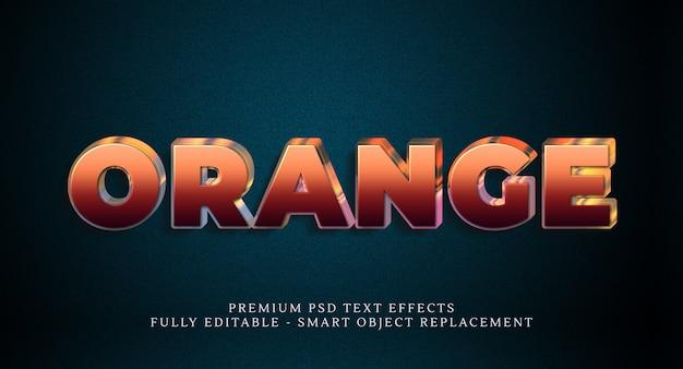 Efekt stylu pomarańczowego tekstu psd, efekty tekstowe psd