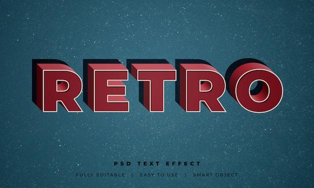 Efekt stylu retro tekst 3d
