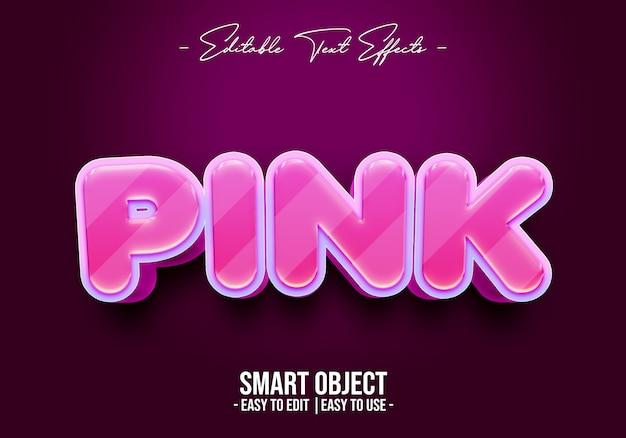 Efekt stylu różowego tekstu