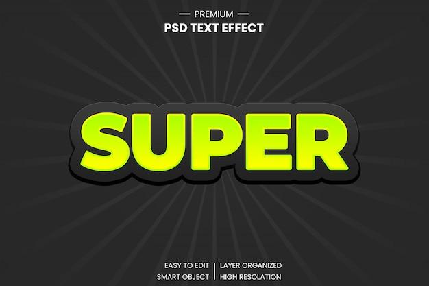 Efekt stylu super 3d tekst