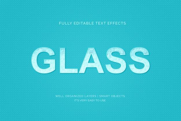 Efekt stylu szklanego tekstu