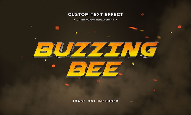 Efekt stylu tekstu 3d filmu