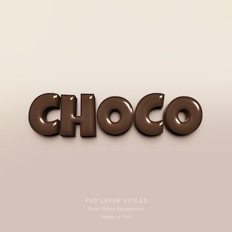 Efekt stylu tekstu czekoladowego