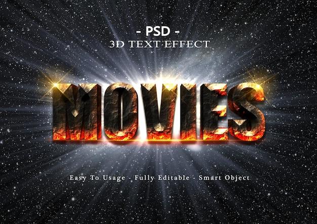 Efekt stylu tekstu filmów 3d