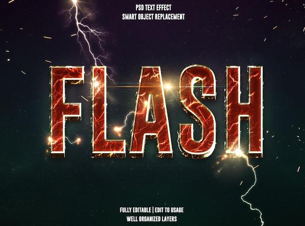 Efekt stylu tekstu flash