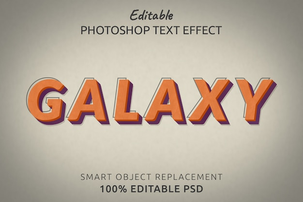 Efekt stylu tekstu galaxy