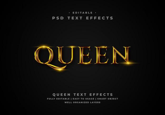Efekt stylu tekstu królowej