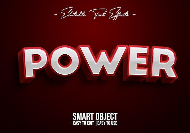 Efekt stylu tekstu mocy