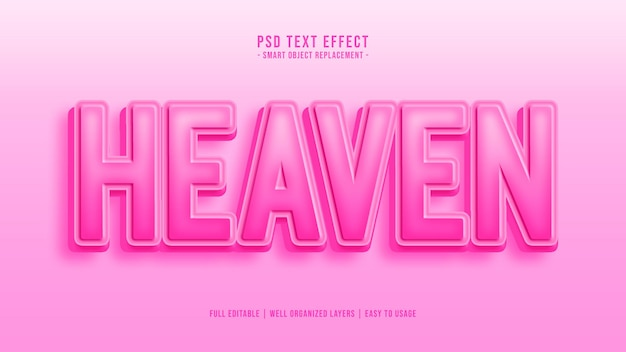 Efekt stylu tekstu nieba