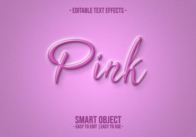 Efekt stylu tekstu różowego
