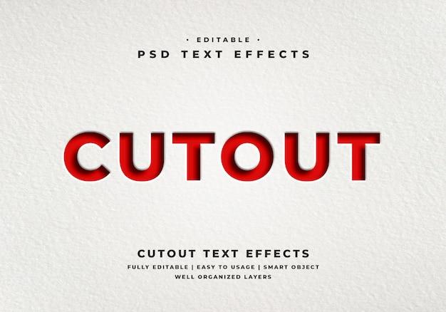 Efekt stylu tekstu wycięcia