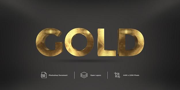 Efekt stylu tekstu złotego