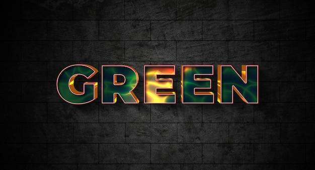 Efekt stylu zielonego tekstu