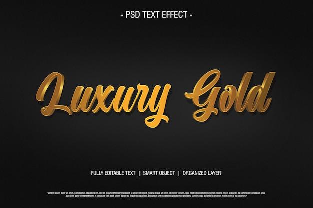Efekt tekstowy 3d luksusowe złoto
