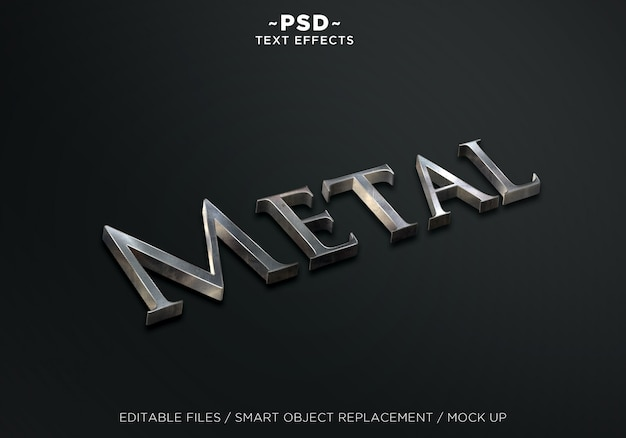 Efekt tekstowy 3d metal