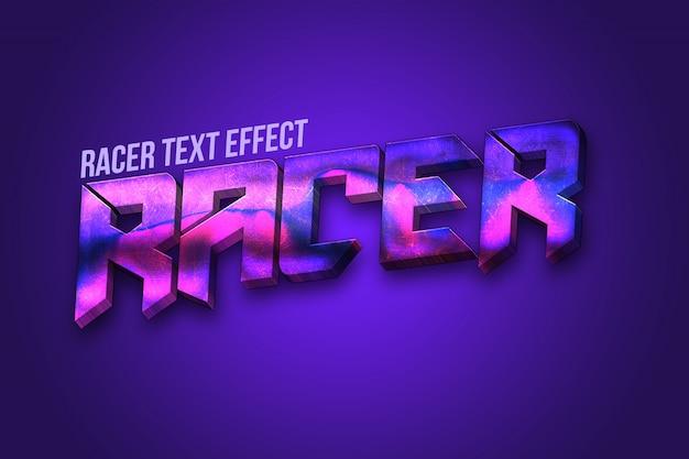 Efekt tekstowy 3d racer