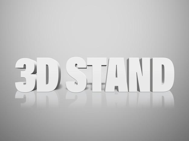 Efekt tekstowy 3d stand