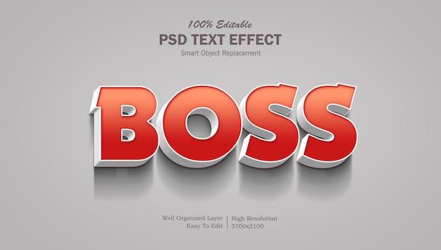 Efekt tekstowy 3d z czerwonym gradientem