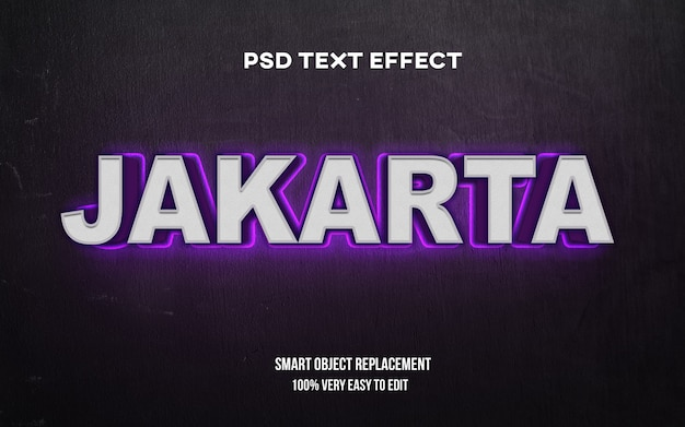 Efekt tekstowy blasku dżakarty