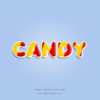 Efekt tekstowy candy 3d
