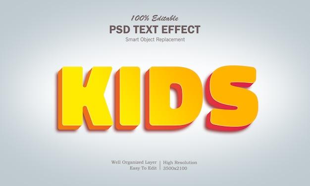 Efekt tekstowy dla dzieci w kolorze żółtym i pomarańczowym