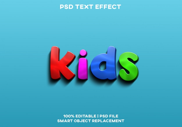 Efekt tekstowy dla dzieci