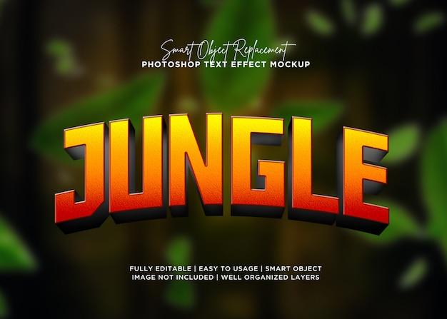 Efekt tekstowy dżungli w stylu 3d