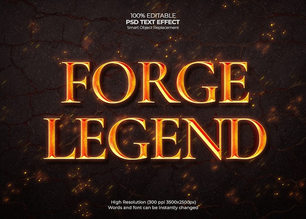 Efekt tekstowy forge legend
