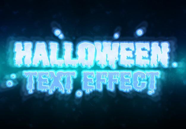 Efekt tekstowy halloween makieta