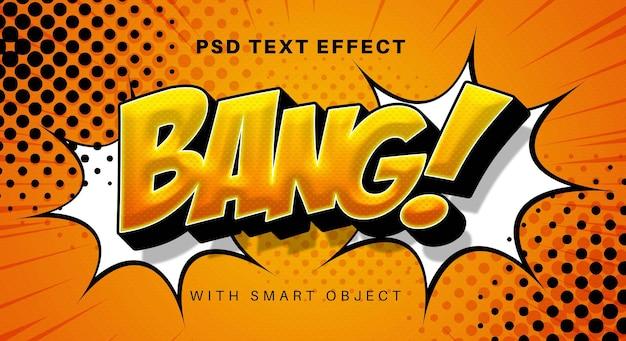 Efekt tekstowy komiksu bang
