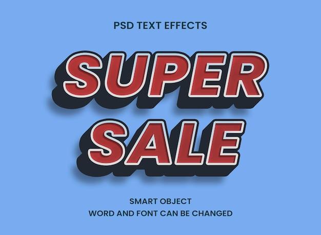 Efekt tekstowy koncepcji super sprzedaży