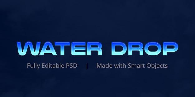 Efekt tekstowy kropli wody