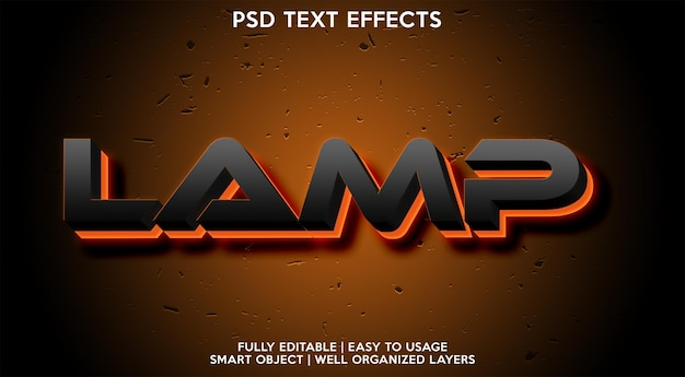 Efekt tekstowy lampy