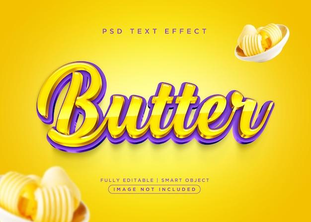 Efekt tekstowy masła w stylu 3d