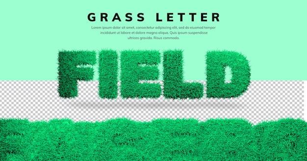 Efekt tekstowy pola 3d list w blenderze