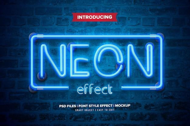 Efekt tekstowy premium światła neonowego