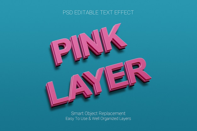 Efekt tekstowy różowej warstwy