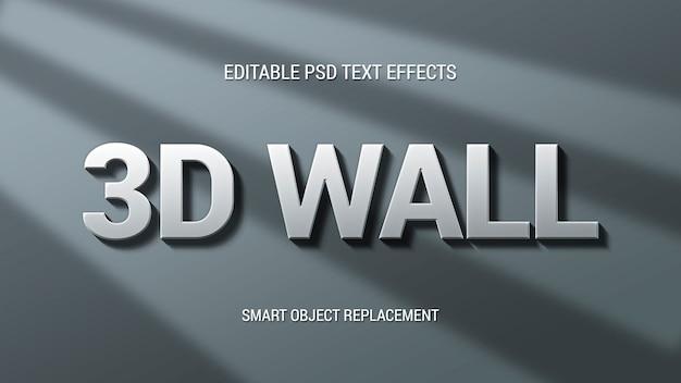 Efekt tekstowy ściany 3d