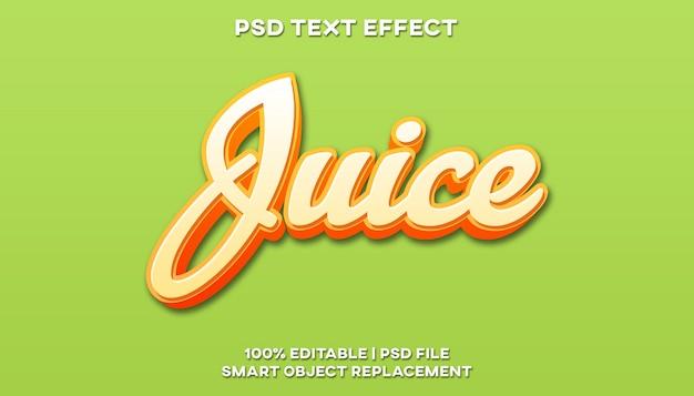 Efekt tekstowy soku