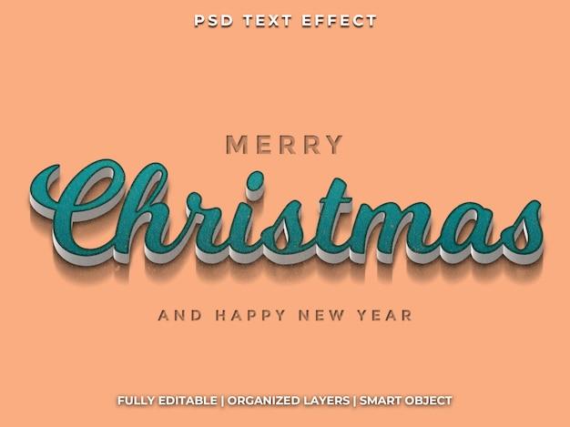 Efekt tekstowy świąt bożego narodzenia i szczęśliwego nowego roku
