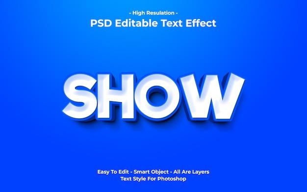 Efekt tekstowy templete of show