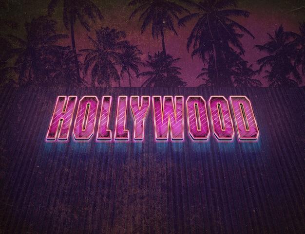 Efekt tekstowy vintage hollywood