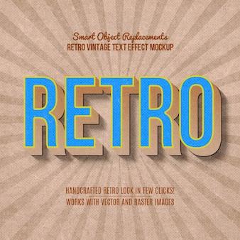 Efekt tekstowy vintage retro